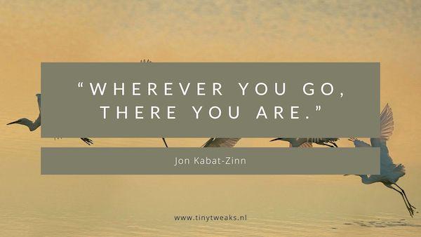 Jon Kabat-Zinn citaat mindfulness