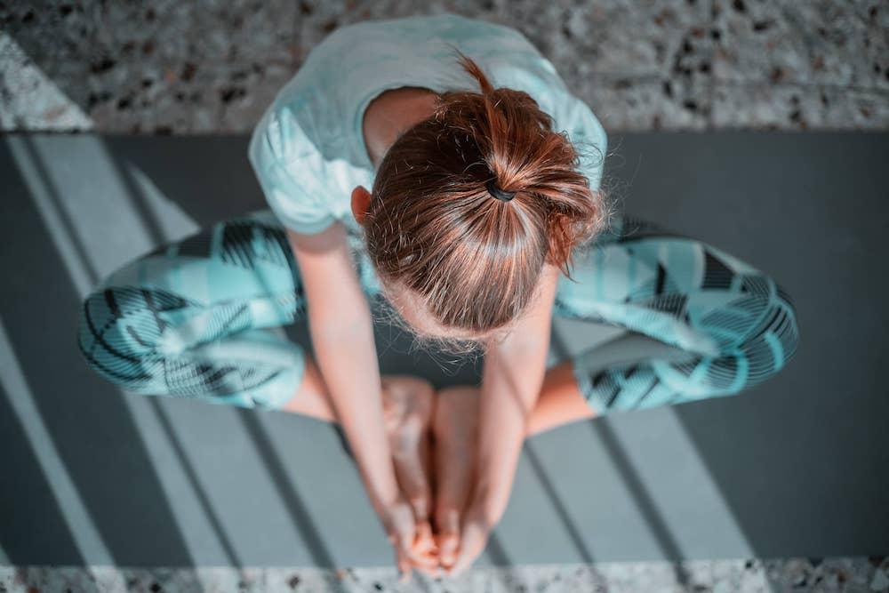 Mindful yoga oefening