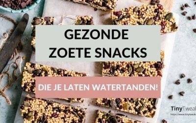 12x gezonde zoete snacks (die je laten watertanden!)